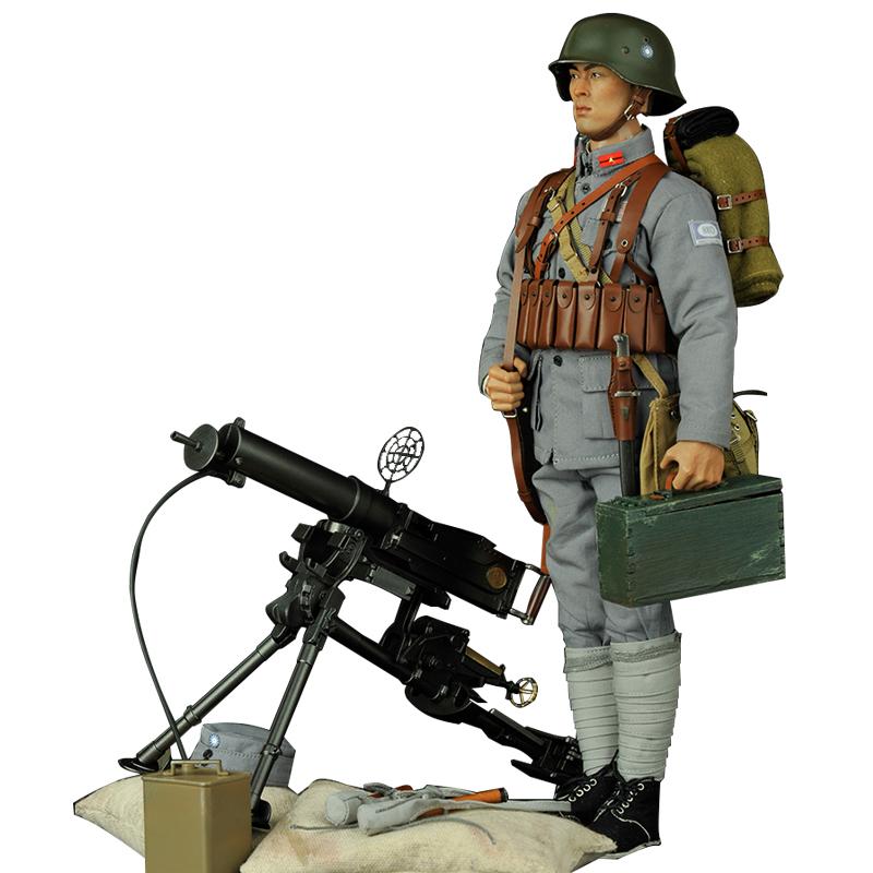 官方预售1/6中国兵人模型勿忘国耻系列二战时期国军陆军士兵套装