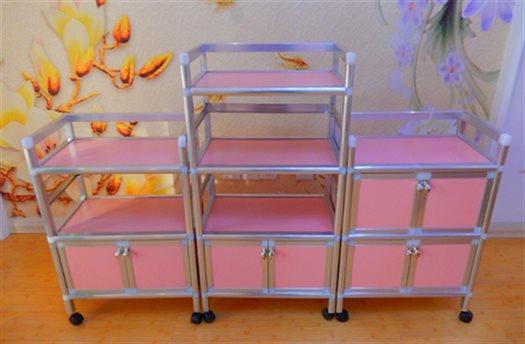 三层美容工具车铝合金美容院仪器小推车带柜子置物架移动 包