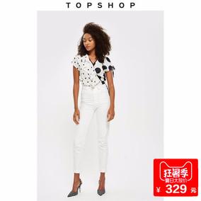 TOPSHOP MOM高腰合体锥腿白色女式牛仔裤02M01NWHT