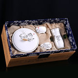 Thomson Jiuding Zhengshan small kind of black tea gift box packwuyishan birch off the red tea special tea ceremony with tea sets