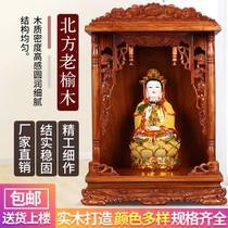 佛龛财神爷供奉桌观音供台壁挂式吊柜家用佛柜神台供桌神龛