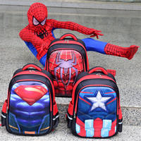 Captain America Superman Spider-Man Schoolbag Primary School Male 1-3-5-6 Grade Children 6-12 Year Old Backpack 8