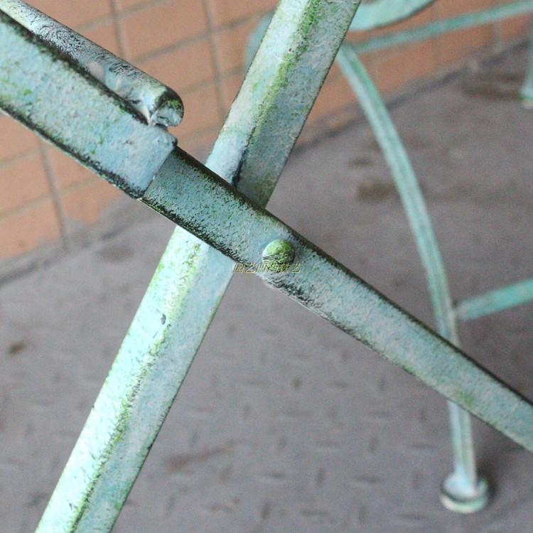 别墅酒吧花园户外折叠铁质桌椅 庭院露台公园烧烤休闲椅