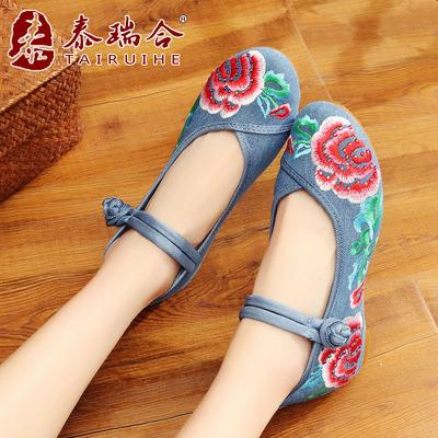 水钻民族风女鞋