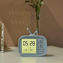 可爱小闹钟创意时尚电子钟学生儿童钟表卧室静音床头钟可充电时钟