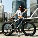洛維斯變速越野沙灘雪地車成人超寬大輪胎山地自行車男女學生單車