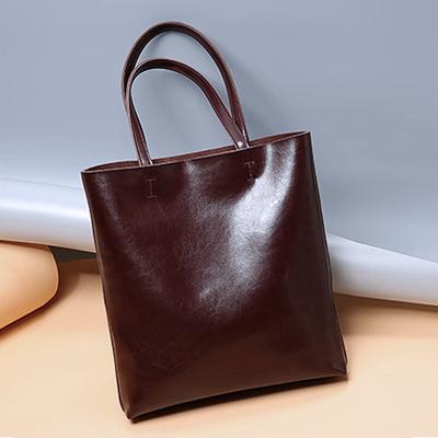 摩顿 牛皮包包女2018新款单肩包女大包欧美挎包简约女包手提包潮