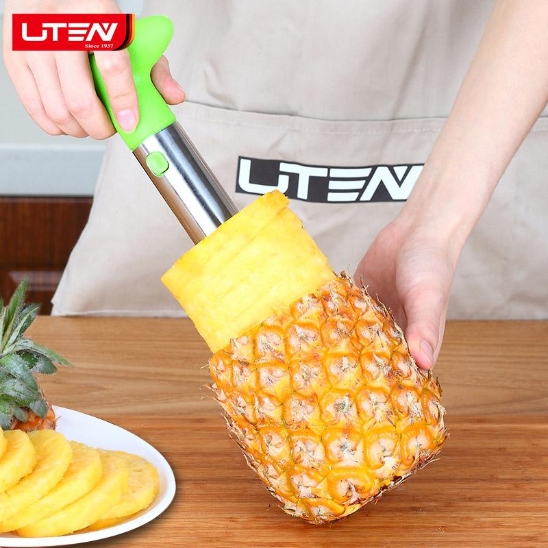 不锈钢菠萝刀削菠萝神器去眼器切菠萝削皮器去皮挖眼刨刀水果工具