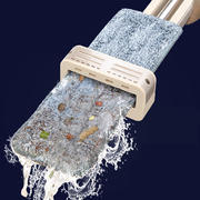 Hand-free flat mop household tile floor dragging net rotating mopping artifact wet and dry dual-use lazy mop