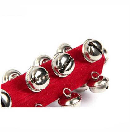 特价促销 奥尔夫打击乐器 21棒铃 红色绒布21铃手摇铃幼儿园教具