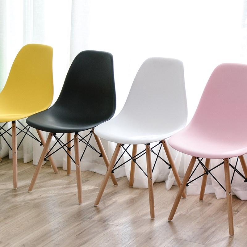 宜家北欧伊姆斯餐椅现代简约家用实木休闲靠背椅会议洽谈办公椅子