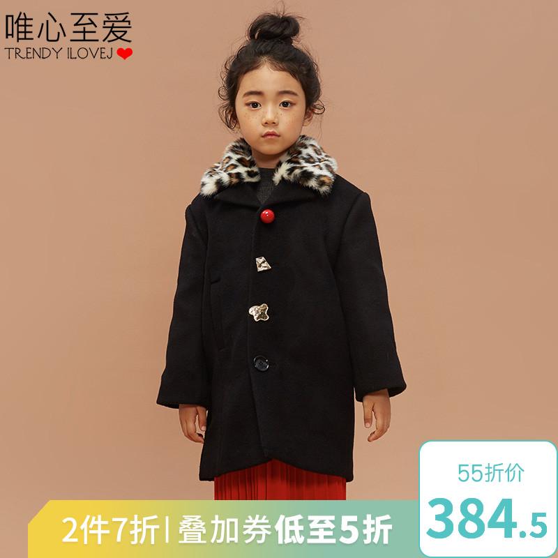 儿童豹纹大衣