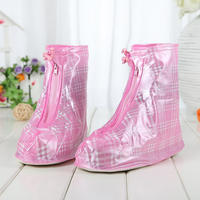 Outdoor rain boots set men and women thickened rain boots fashion waterproof shoes set foot sets children's non-slip rainy snow cover
