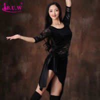 BUW belly dance 2018 autumn and winter new large size practice clothing practice performance show set new beginner