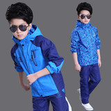 Children's clothing boy's jacket autumn 2018 new spring and autumn handsome sports big boy Korean version of the boy suit tide