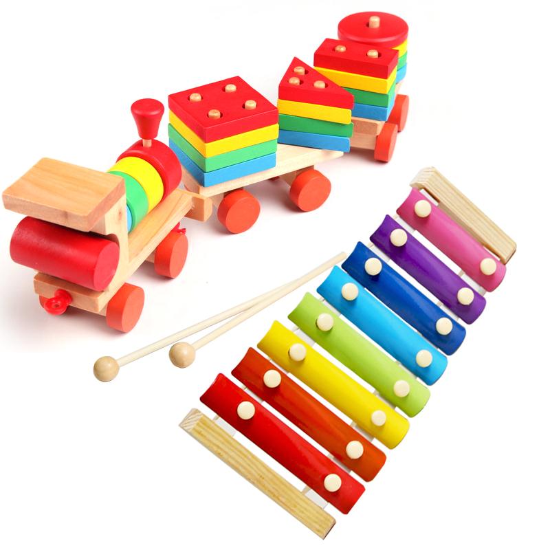 水果切切看 数字时钟 敲琴 形状小火车 套柱 不倒翁 五档计算架