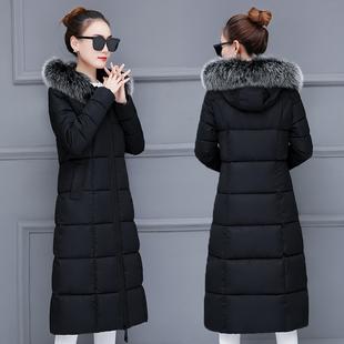 2018新款羽绒棉服衣女反季棉衣冬季韩版加厚中长款过膝保暖外套