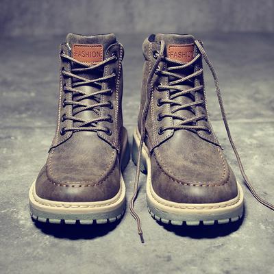 马丁靴军靴男靴子工装复古潮短靴中帮雪地英伦风冬季高帮男鞋百搭