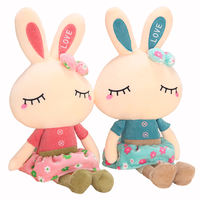 Cute rabbit plush toy female white rabbit doll baby pillow birthday gift doll doll girl cute