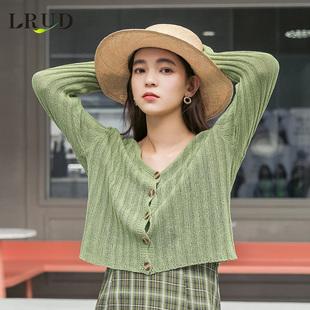 LRUD防晒衣女2019春季新款韩版学生开衫防晒衫薄款外套针织衫上衣