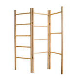 掬 Solid wood screen ladder frame Ash wood log storage rack Decorative coat rack Japanese style