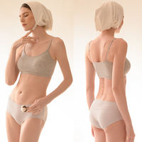 Tube top underwear, female anti-light, gathered, wrapped chest, no steel ring, bra, thin section, sports vest, strap, beauty back