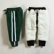 婴儿宝宝棉裤冬1-3岁加厚2加绒裤子男童女童保暖裤外穿儿童运动裤