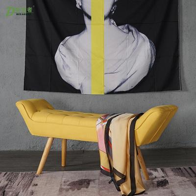 ??北欧床尾凳卧室布艺长条凳门口换鞋凳中小户型卧室床凳放衣凳