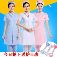 护士服夏季短袖女白大褂长袖医生服粉色分体套装娃娃领医院工作服