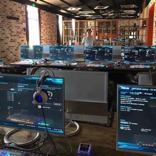 二手网吧 diy组装游戏台式主机一体机电脑+32英寸显示器全套包邮
