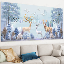 Full-embroidered Cross-stitch Embroidery 2018 New-style Rich Deer Living Room Simple Modern European Elk Cross-stitch Bedroom 19