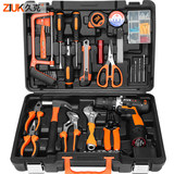 Djuk home electric drill power hand tool set hardware electrician special maintenance multi-functional toolbox carpentry