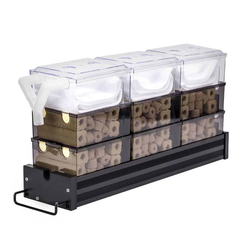 抽屉式鱼缸滴流盒过滤盒水族箱顶部过滤器上置三层龟缸自制过滤槽