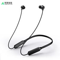 Ali Smart Bluetooth Headset Sports Wireless Running Ears Earphones Hanging Ears into Ear Neck Hanging Neck Collars Headphones Apple Can Answer Phone Overweight Subwoofer Men and Women General