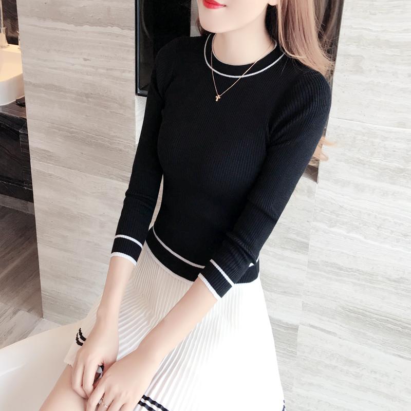 黑色针织小衫