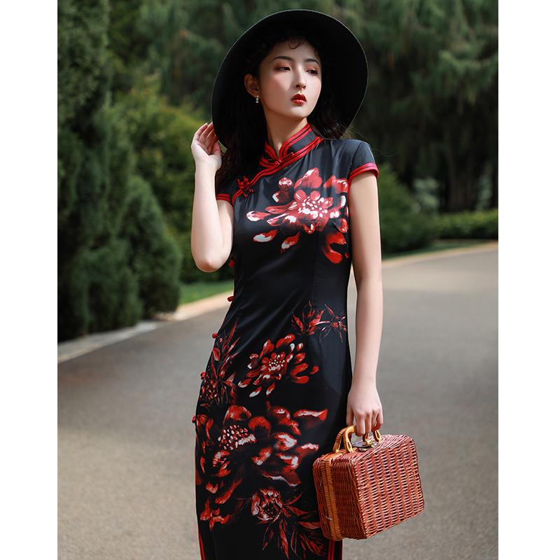 红彩衣HCY19046旗袍