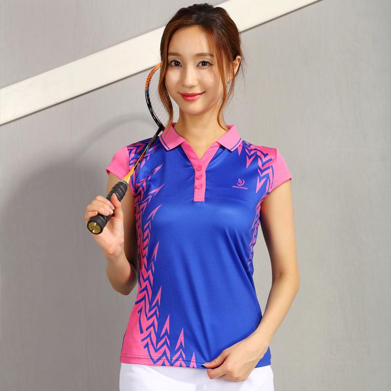 2018新款竞迈羽毛球服男女速干修身透气乒乓球运动服短袖上衣T恤