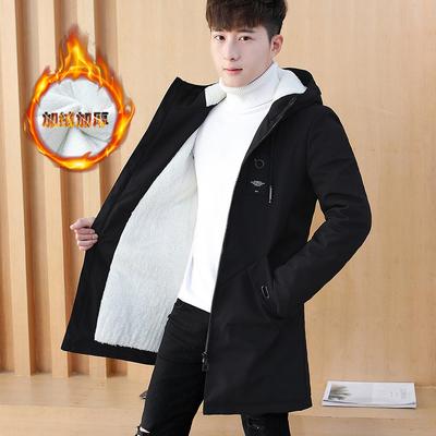 冬装14初中学生15男孩子加厚棉衣17青少年16高中18岁加绒夹克外套
