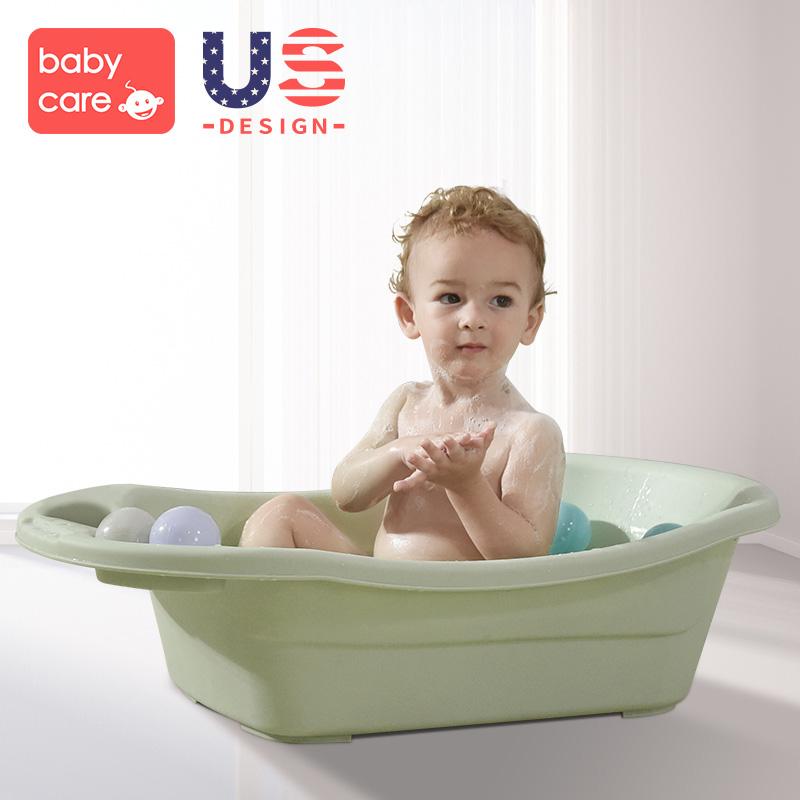 babycare婴儿洗澡盆可坐躺 新生幼儿宝宝沐浴盆网兜儿童小孩浴盆