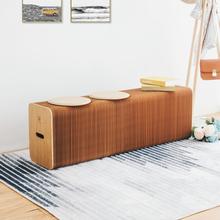 设计家用客厅创意家具多功能长凳子 十八纸餐桌凳折叠伸缩北欧时尚