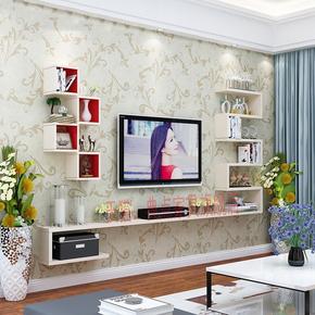 墙上置物架客厅造型架电视背景墙装饰架壁挂 电视柜隔板创意格子