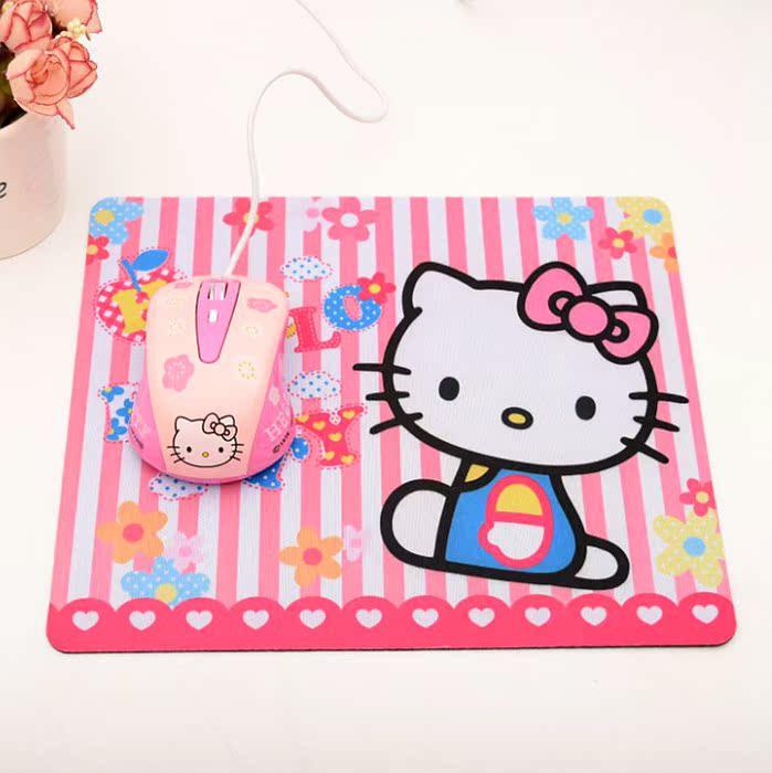 萌潮游戏防滑电脑笔记本鼠标垫 可爱猫咪鼠标垫