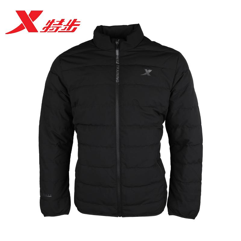 特步羽绒服男士2018冬季新款正品加厚短款运动男外套982429190891