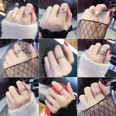 欧美夸张个性食指戒指女日韩百搭大气指环潮人尾戒开口戒子时装戒