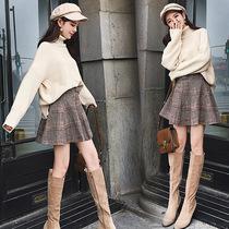 秋季韩版潮学生bf毛衣搭配裙子两件套冬天女装复古学院风港味套装