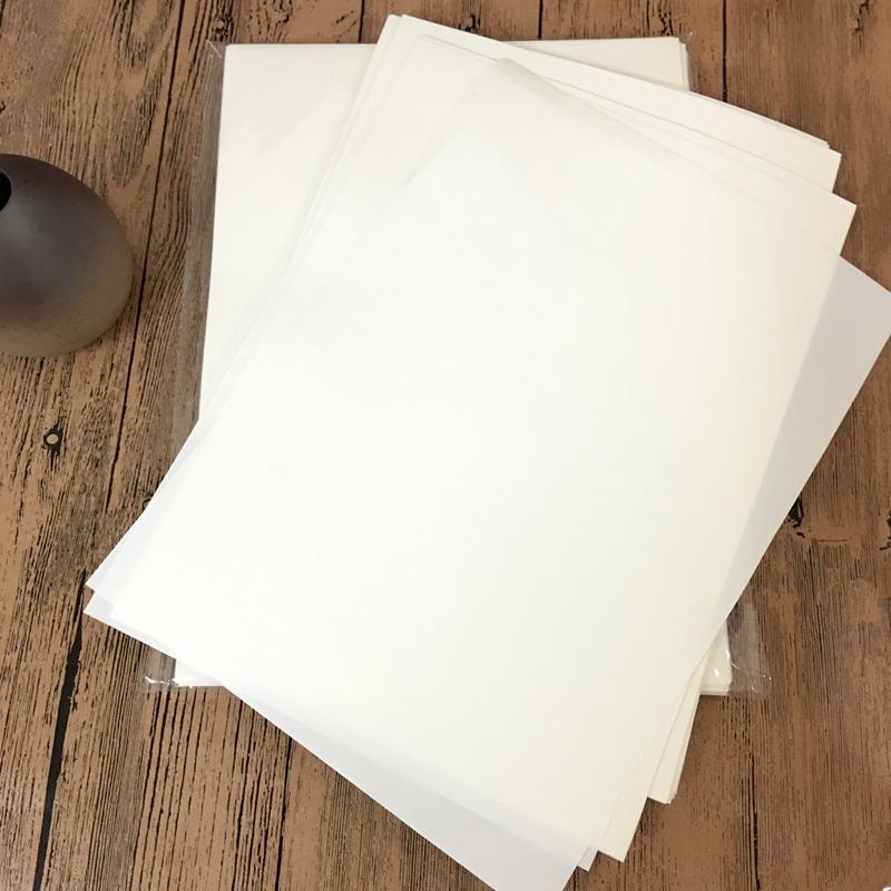 A4离型纸 防粘纸 硅油纸 隔离纸单面离型纸130克 包邮 可定制规格
