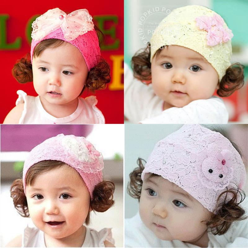 婴儿假发帽女