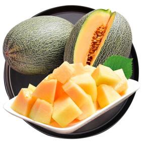 26度果园 脆甜网纹蜜瓜薄皮1个2kg以上 西州哈密瓜新鲜水果包邮