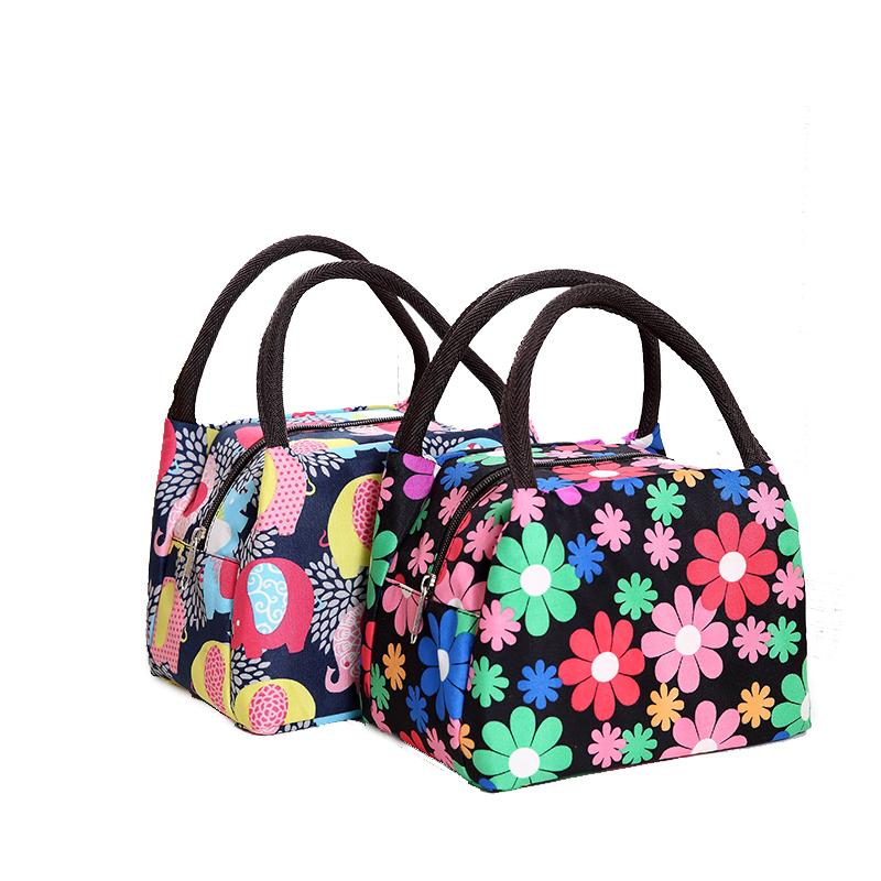 尼龙加厚手提包女士便当包饭盒包布艺手拎妈妈小布包手拿小包包女