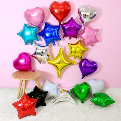 18寸心形气球 生日铝膜铝箔气球 婚礼结婚庆典活动装饰布置氦气球